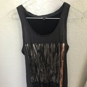 Express tank top with sequins
